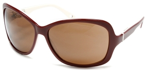 Alexander Daas Majesty Maroon/White with Brown Lenses